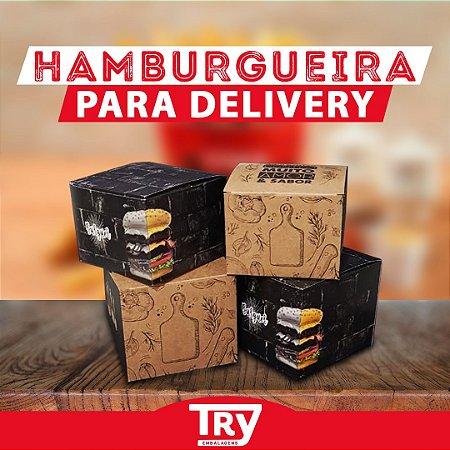 Caixa Box Embalagem Para Hambúrguer Artesanal Kraft 50un (P)