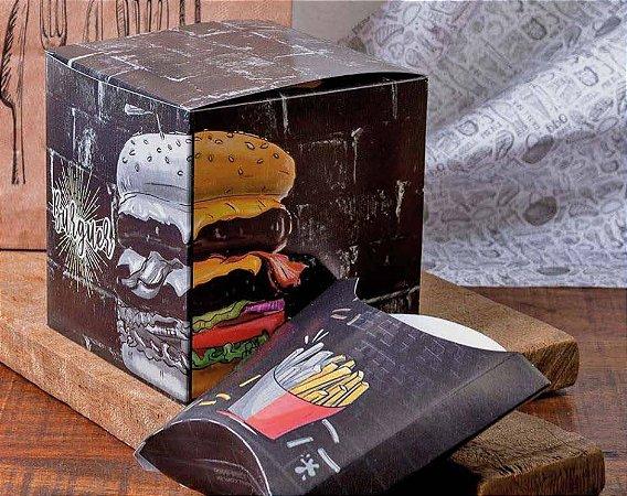 Caixa Box Embalagem Para Hambúrguer Artesanal Triplex 50un (P)