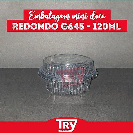 Embalagem Mini Doce Redondo G 645 - 120ml (100 UNIDADES)