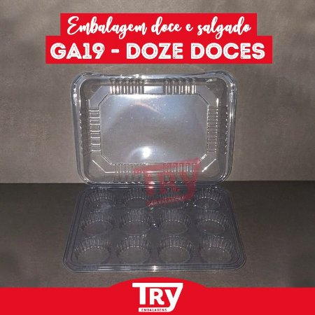 Embalagem Doce e Salgados GA 19 - Doze Doçes (25 UNIDADES)