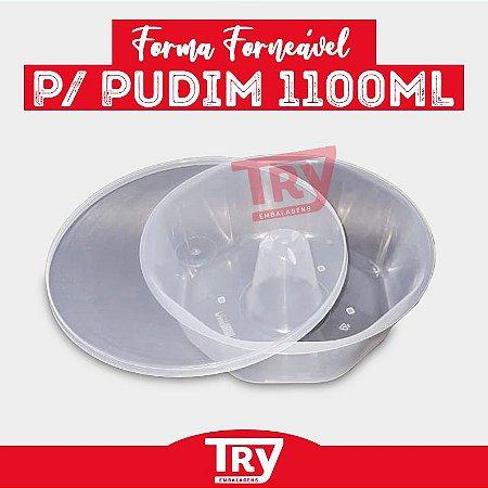 Forma Para Pudim Plástico Família C/ Tampa 1100ml (5un)