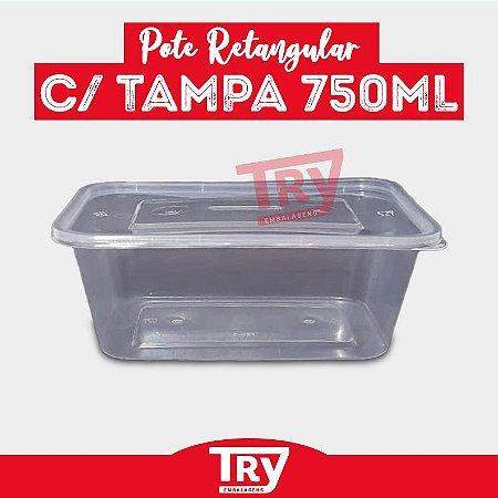 Pote P/ Alimento Comida Fit, Doces C/ Tampa 750ml (30un)