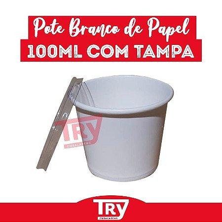 Pote de Papel Branco p/ Molho 100ml (50 UNIDADES)