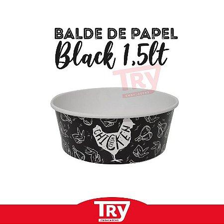Balde De Papel Black P/ Frango Frito 1,5l (50 unidades)