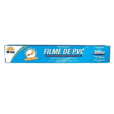 ROLO DE FILME PVC DE 45CMx300M - 1 UNIDADE