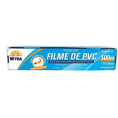 ROLO DE FILME PVC DE 28CMx100M - 1 UNIDADE