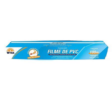 ROLO DE FILME PVC DE 45CMx100M - 1 UNIDADE
