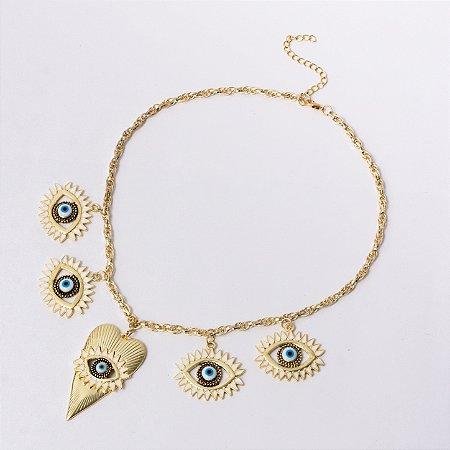 Colar Olho Grego CL6001