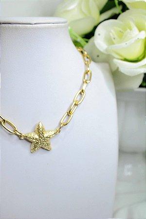 Choker Dourado de Estrela