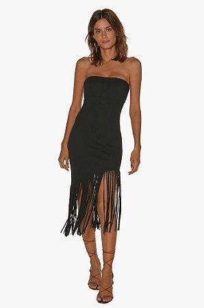 VESTIDO BLACK FIRENZE FRINGE SHORT DRESS
