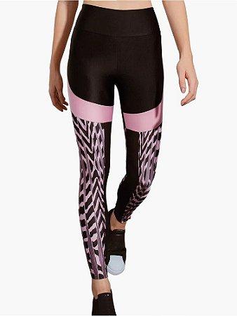 Calça Legging com recorte Textura