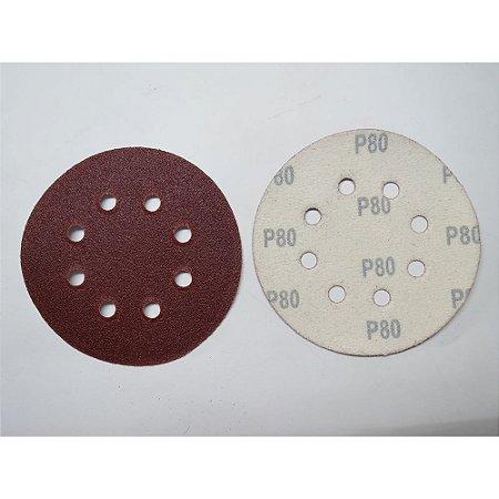 Disco De Lixa Com Aderência Grao 80 125mm 5x1 738049 Mtx