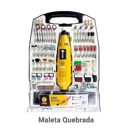 Micro Retífica 234 Acessórios Charbs – 110V Maleta Quebrada