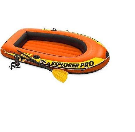 Bote Explorer Pro 300 Com Acessórios 58358 Intex