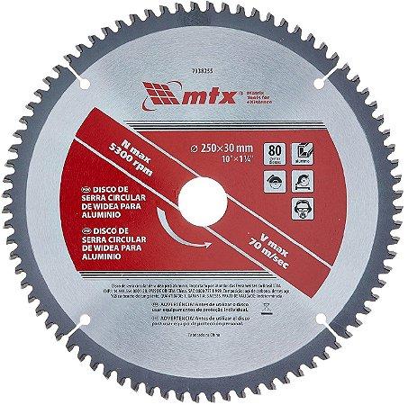 Disco Serra Circular Widea 250x30mm 80 Dentes 7338255 Mtx