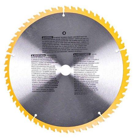 Lâmina Serra Circular P/Madeira 60 Dentes DW3126 DeWalt