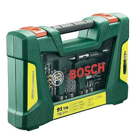 Jogo Brocas e Bits Titânico V-Line 91 Peças 2607017195 Bosch