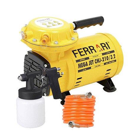Compressor Ar Direto 1/2HP MegaJet Ferrari CMJ-210/3,2 Bivolt