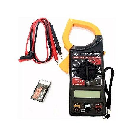 Alicate Amperímetro Digital Multímetro Com Estojo 6760 Lotus