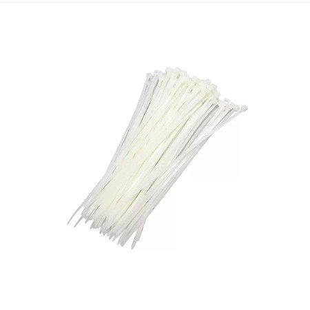 Abraçadeira De Nylon Branca 3,6X250mm 100 Un. Lotus 5905