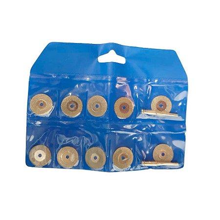 Jogo de Discos Diamantados 20mm 12 Peças para Micro Retífica