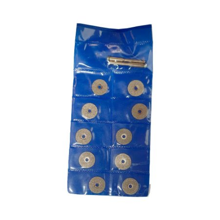 Jogo de Discos Diamantados 15mm 12 Peças para Micro Retífica