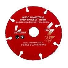 Disco de Serra Vídea Tungstênio P/  Madeira 110mm 3256 Lotus