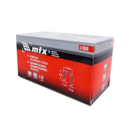Grampos para grampeador pneumático 10mm 5000 Unid 576569 MTX