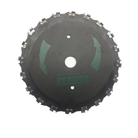 Disco Com Corrente De Motosserra P/ Roçadeira 230mm TripSaw