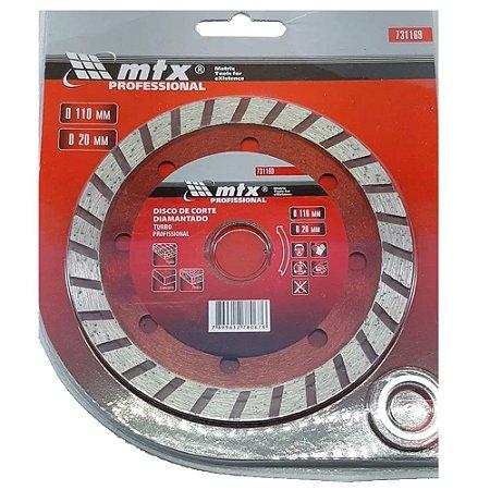 Disco de Corte Diamantado Turbo 110mm X 20mm Corte Seco Mtx
