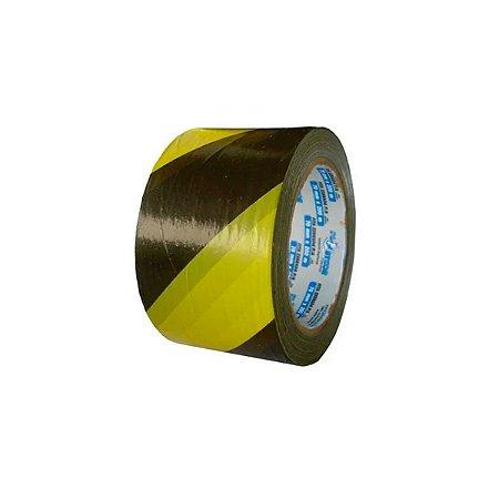Fita Zebrada de Segurança Preta e Amarela 70x200 Plastcor