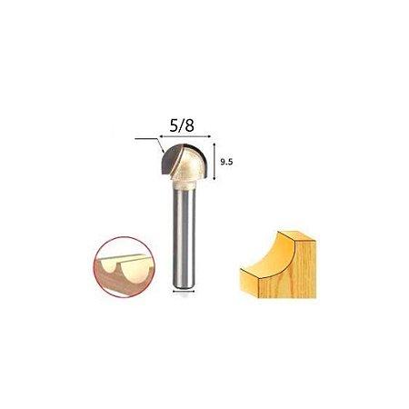 Fresa Meia Esfera Haste 6mm 5/8 para Tupia 6x5/8 2 un Ctpohr