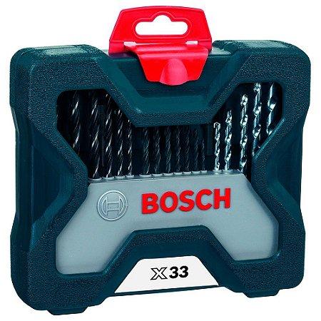 Estojo de Brocas e Pontas c Maleta 33 Peças 2607017398 Bosch