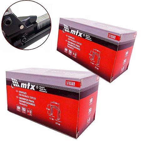 Kit Grampo para Grampeador Pneumático 10 e 22mm 10.000Un MTX