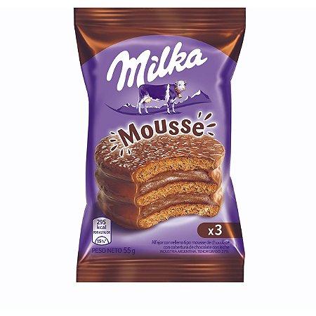 Alfajor Milka Mousse chocolate com leite 55g
