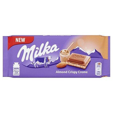 Chocolate Importado Milka Creme De Amêndoas 90g