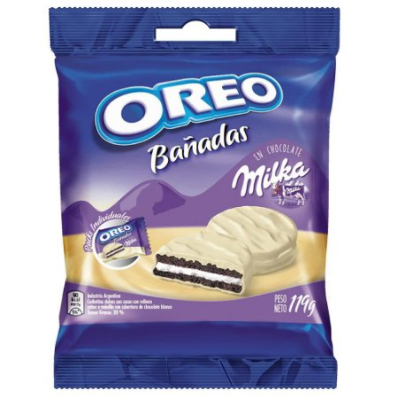 Biscoito Milka Oreo Coberto de Chocolate Branco 119g