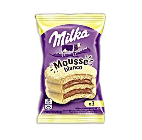 Milka Mousse choc. com cobertura de Chocolate Branco 55g