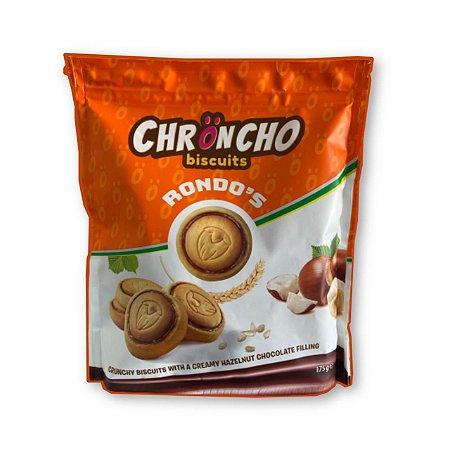 Biscoito importado recheado de avelã 175g Chroncho Biscuits