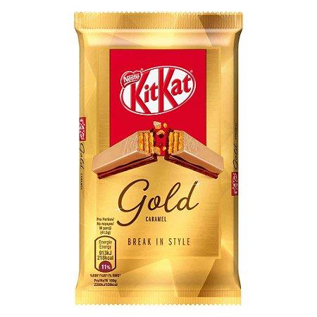 Kit kat importado Gold com chocolate branco e caramelo 41,5g