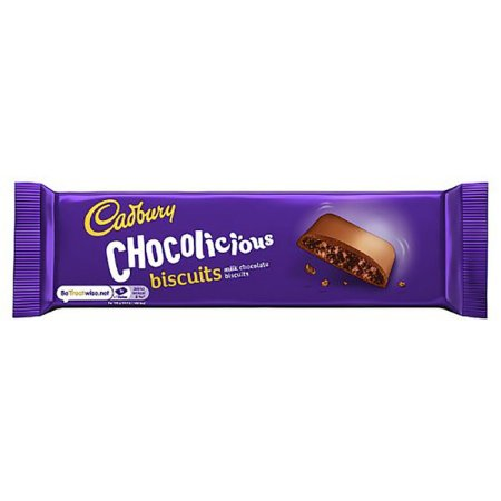 Bolacha importada coberta de chocolate 110g Cadbury