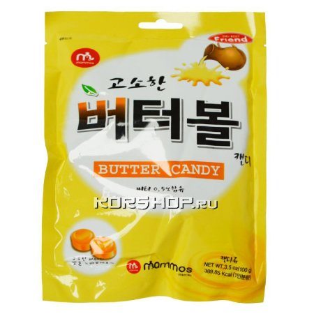 Bala Coreana sabor Manteiga 100g MAMMOS
