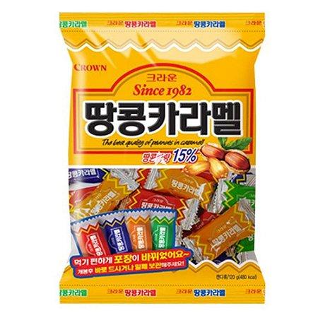 Bala importada sabor amendoim caramelo 120g Crown