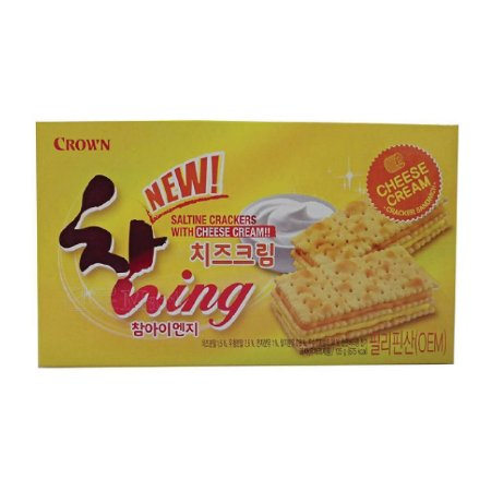 Biscoito Coreano de creme de queijo 135g CROWN