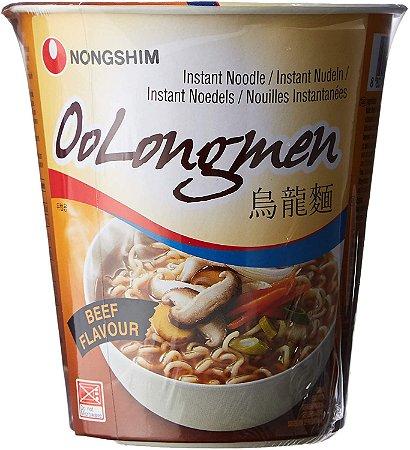 Nongshim OoLongmen carne Noodle Em Copo 75g