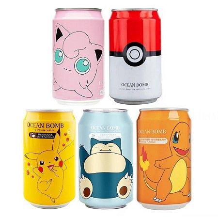 Refrigerante Pokémon kit com 5 latas