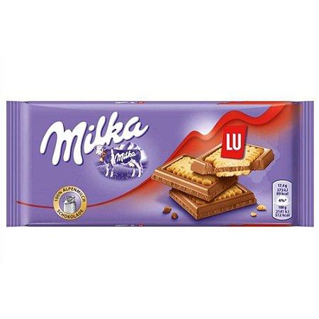 Milka Chocolate ao Leite coberto com biscoito LU 87g