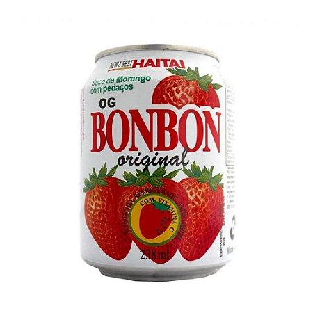 Haitai Suco De Morango Com Pedaços De Fruta Bonbon 235ml