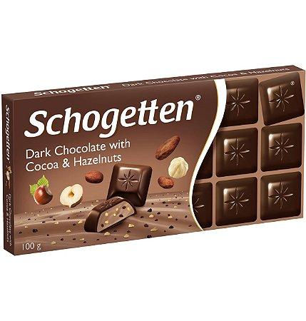 Schogetten Dark Chocolate With Cocoa & Hazelnuts  (Cacau e Avelãs) 100g