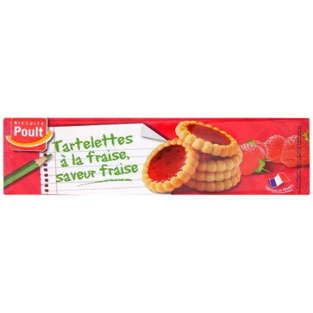 Biscuit Poult Tartlets Strawberry 150g
